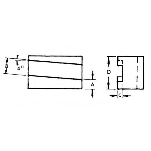 Reversible Aloris Tool CXA-7R Universal Parting Blade Holder