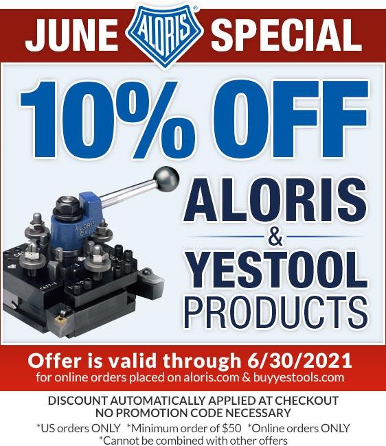 Aloris Tools June Sale